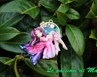 Fairy Pendant Handmade Polymer Clay on REQUEST
