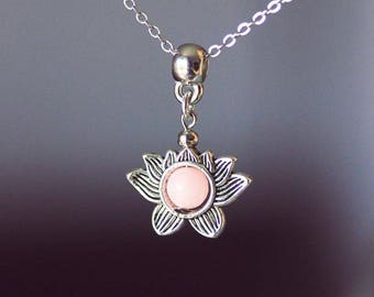 Lotus necklace gold lotus flower necklace blooming flower lotus necklace silver lotus silver pink necklace lotus agate necklace lotus jewelry pink gemstone necklace flower audiocablefo light catalogue