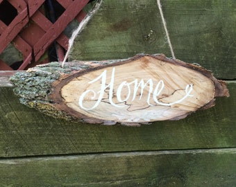 Sign Wood-Home-Rustic-Cabin-Farmhouse-Front Door Sign