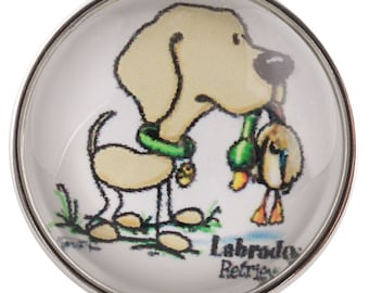 Lab Hunting Duck Bird Dog Snap It SC0432 Noosa Chunk Button Popper Snap Interchangeable 18mm 20mm snap dog breed