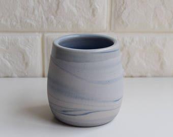 Blue Mug, Ceramic Mug, Ceramic Tumbler, Ceramic Cup, Porcelain Mug, Marbled Mug, Coffee Mug, Tea Cup, Home Decor, DIY, Marbled, Agate, (M7)