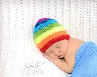 Rainbow Hat | Rainbow Baby Hat / Rainbow Newborn Hat / Rainbow Toddler Hat / Rainbow Baby Photo Prop / Rainbow Baby Gift