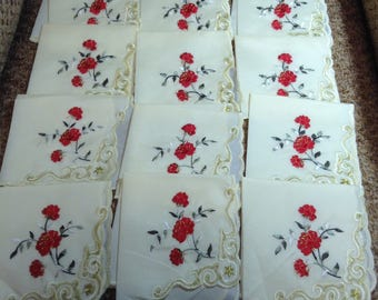 Napkins set of 12 pieces. Russia, USSR