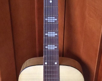 Vintage 1954 Stella Parlor Accoustic Guitar Blonde Flame faux finish