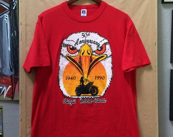 Vintage 50th Anniversary Sturgis T-Shirt Sturgis Motor-Classic South Dakota 1990