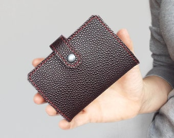 Leather card holder for 20 cards. Leather card case. Card wallet leather. Gift under 25.