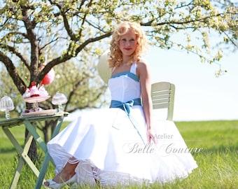 Custom Made & Handmade - Tea-Lenght Petticoat Wedding Dress item: Nele