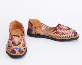 Multicolor Leather Sandals Huaraches - Handcrafted Guatemala Fair Trade