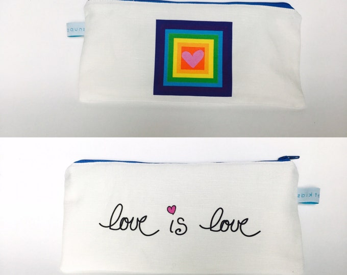 PRIDE --- Lined Zipper Bag