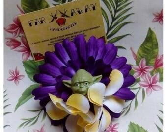 Star Wars Luau Party OOAK Hair Flower Tiki Hawaiian Psychobilly PinUp Geek Fascinator Darth Vader Yoda R2D2