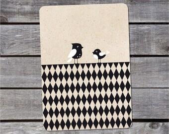 Postal card {birds}