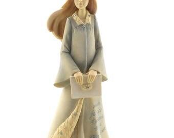 Enesco Foundations by Karen Hahn Graduation Girl Figurine, 7.68-Inch