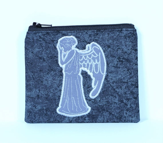 SALE Crying Angel Coin Purse, Zipper Pouch, Wallet