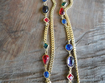 Vintage Jewel Tone Necklace