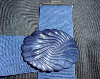 80s elastic belt -- blue