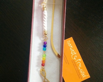 Love Chakras bookmark - OOAK