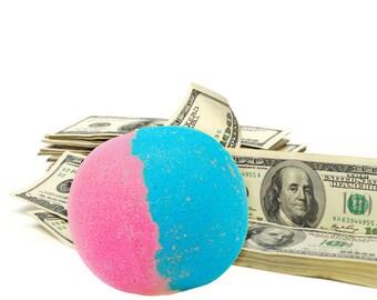 Cotton Candy Cash Money Bath Bomb - Real Cash Inside of Bath Bombs, Cash Bath Fizzes, Surprise Bath Bomb, Dollar Bath Bombs, Surprise, Gifts