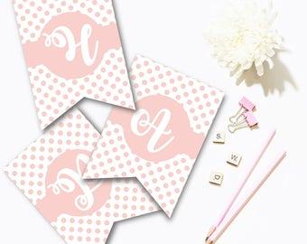 "Ballerina ""Happy birthday"" Banner"
