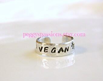 Vegan ring with vines.