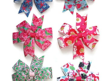 Lilly Pulitzer Inspired Hair Bows