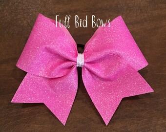 Cheer Bow - Light Pink Glitter