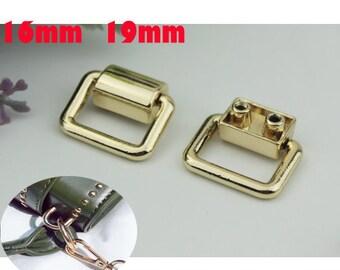 20--100pcs 3/4inch 16mm 19mm  ,Square Ring,Handbag Handle,Metal Handle, Handbag Hardware ,Screw Square for bag findings(WholeSale)  KS-502