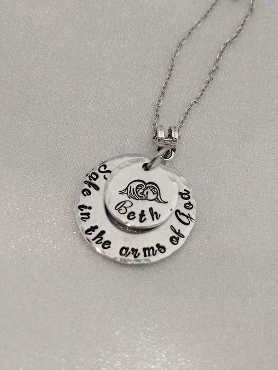 Infant Loss Memorial - Baby Loss Gift - Angel Baby Jewelry - Personalized Infant Loss Necklace - Loss of Child Jewelry - Baby Loss Jewelry