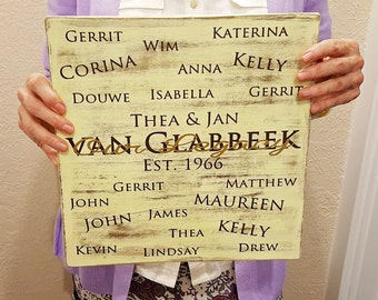 Our Legacy Sign - Family Tree Sign, Family Generations Sign, 40th Anniversary Gift