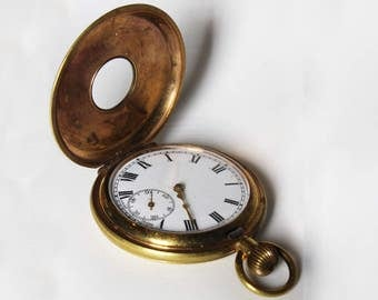 Brass Vintage Pocket Watch