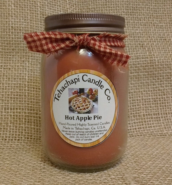 16 oz Canning Jar - Scented Soy Candle - Rustic - Country Candle - Home Fragrance,  you pick the scent