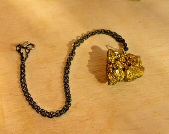 Collar de Drusa de cuarzo/ Druzy Necklace, raw crystal pendant