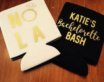 NOLA bachelorette bash can coolers / new orleans bachelorette party / nola bachelorette party favors / fast shipping
