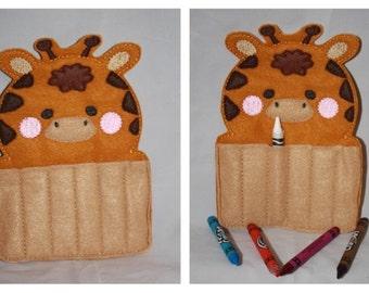 Giraffe crayon holders