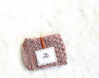 Knitted Personalized Tea Cozy, Personalized Mug Cozy, Cup Cozy, Knitted Cozy, Personalized Mug Cozy, Tea Cozy, Mug Accessories