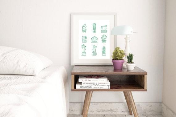 Cactus Printable I Desert I Gallery Wall I Hipster I Office I Printable I Office Decor