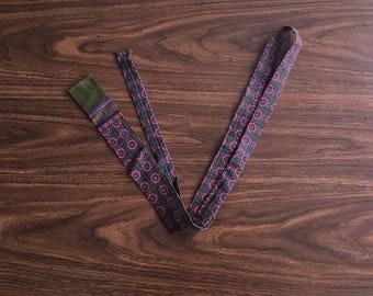 FLASH SALE Vintage 1960's Square Tie with Geometric Print