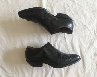 Vintage 1990's  Black Leather Booties by Nine West