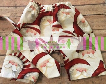 SANTA CLAUS Red Baby Pants and Tie Set Christmas Holiday Newborn CLEARANCE