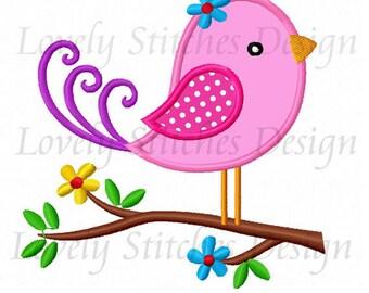 Bird Applique Machine Embroidery Design NO:6069