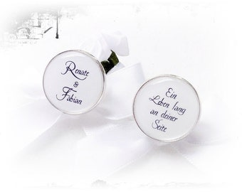 Personalised cufflinks, a life long...