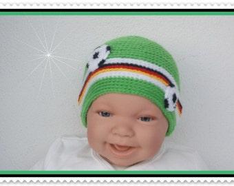 Baby hat of new born Hat Cap green football