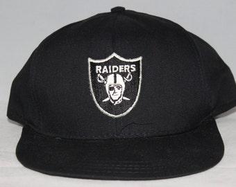Vintage Los Angeles Raiders AJD NFL Snapback Hat