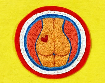 Booty Patch • Hand Embroidered