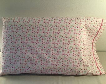 Girls Pillowcase with Hearts