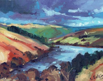 Crai Reservoir, Brecon Beacons limited edition giclee print. Edition of 100