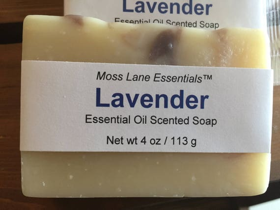 Lavender Essential Oil Scented Cold Process Soap with Shea Butter