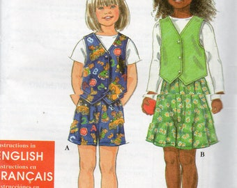 KIDS Simplicity It's So Easy Pattern 7696 VEST & SHORTS Child's Sizes 3 4 5 6 7 8