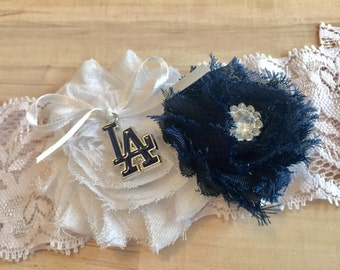 Los Angeles Dodgers Garter / LA Dodgers Wedding Garter / Dodgers Wedding Garter / Wedding Garter / Bridal Garter / Lace Garter