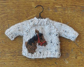 Horse Hand-Knit Sweater Ornament