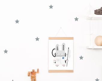 Wall decals / wall sticker 42 Star Silver